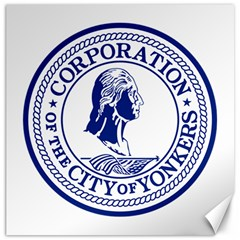 Seal Of Yonkers, New York  Canvas 16  X 16