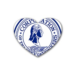 Seal Of Yonkers, New York  Heart Coaster (4 Pack)