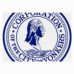 Seal Of Yonkers, New York  Large Glasses Cloth (2 Side)