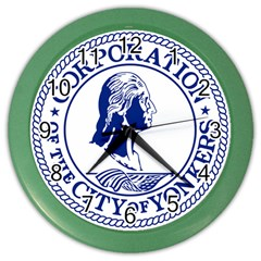 Seal Of Yonkers, New York  Color Wall Clocks