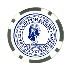 Seal Of Yonkers, New York  Poker Chip Card Guards