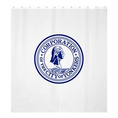 Seal Of Yonkers, New York  Shower Curtain 66  X 72  (large)