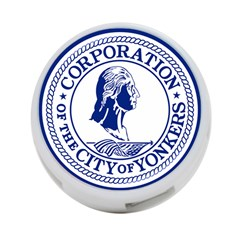 Seal Of Yonkers, New York  4 Port Usb Hub (two Sides)