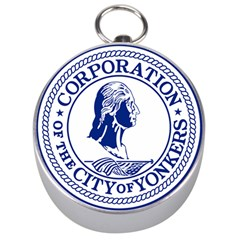 Seal Of Yonkers, New York  Silver Compasses