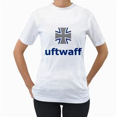 Luftwaffe Women s T Shirt (white) (two Sided)