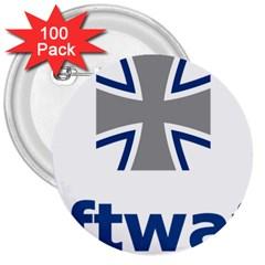 Luftwaffe 3  Buttons (100 Pack)
