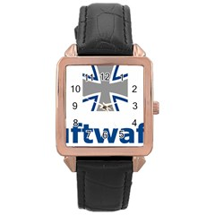Luftwaffe Rose Gold Leather Watch