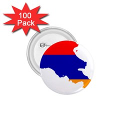 Flag Map Of Armenia  1.75  Buttons (100 pack)