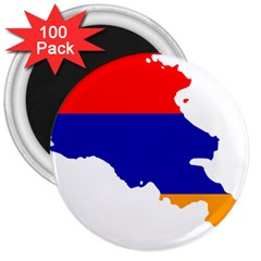 Flag Map Of Armenia  3  Magnets (100 pack)