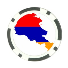 Flag Map Of Armenia  Poker Chip Card Guards