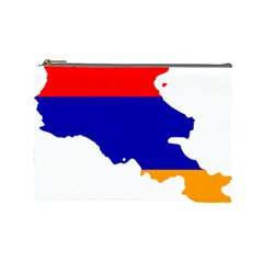 Flag Map Of Armenia  Cosmetic Bag (Large)