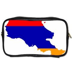 Flag Map Of Armenia  Toiletries Bags 2-Side