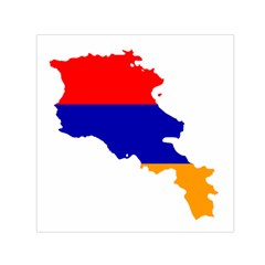 Flag Map Of Armenia  Small Satin Scarf (Square)