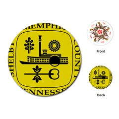 Seal Of Memphis  Playing Cards (Round)