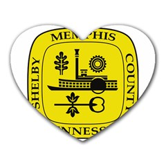 Seal Of Memphis  Heart Mousepads