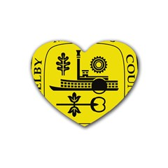 Seal Of Memphis  Heart Coaster (4 Pack)