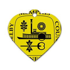 Seal Of Memphis  Dog Tag Heart (two Sides)