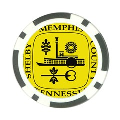 Seal Of Memphis  Poker Chip Card Guards