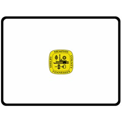 Seal Of Memphis  Fleece Blanket (Large)
