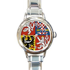Coat Of Arms Of The Czech Republic Round Italian Charm Watch