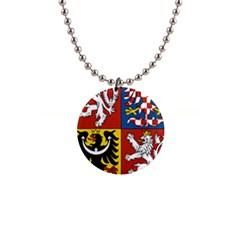Coat Of Arms Of The Czech Republic Button Necklaces