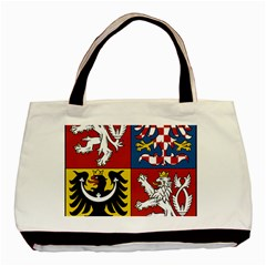 Coat Of Arms Of The Czech Republic Basic Tote Bag (two Sides)