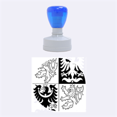 Coat Of Arms Of The Czech Republic Rubber Round Stamps (Medium)