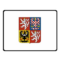 Coat Of Arms Of The Czech Republic Double Sided Fleece Blanket (Small)