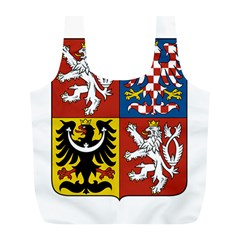 Coat Of Arms Of The Czech Republic Full Print Recycle Bags (L)