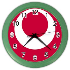 Emblem Of Okinawa Prefecture Color Wall Clocks