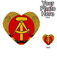 National Emblem Of East Germany  Multi Purpose Cards (heart)