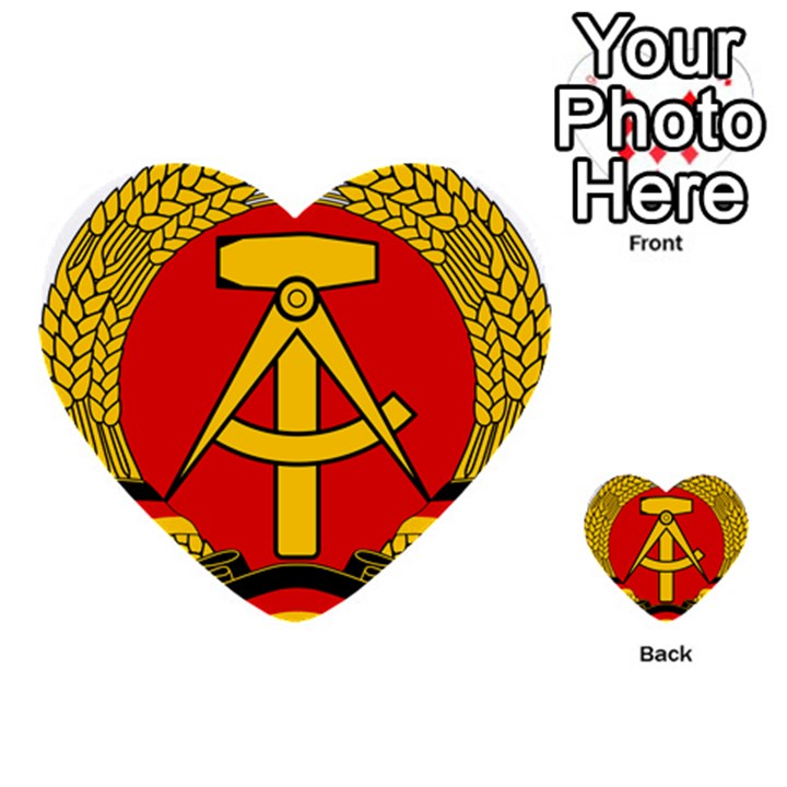 National Emblem Of East Germany  Multi-purpose Cards (Heart)