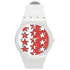 Coat Of Arms Of Valais Canton Round Plastic Sport Watch (M)