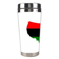 Pan Afrcian Flag Map Of Usa Stainless Steel Travel Tumblers