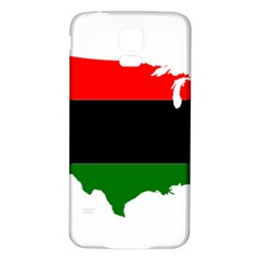 Pan Afrcian Flag Map Of Usa Samsung Galaxy S5 Back Case (White)