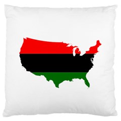 Pan Afrcian Flag Map Of Usa Standard Flano Cushion Case (Two Sides)