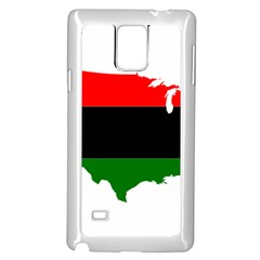 Pan Afrcian Flag Map Of Usa Samsung Galaxy Note 4 Case (White)