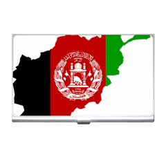 Flag Map Of Afghanistan Business Card Holders