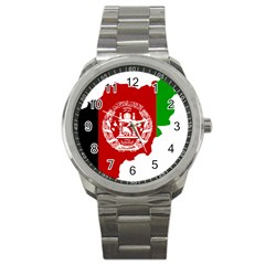 Flag Map Of Afghanistan Sport Metal Watch