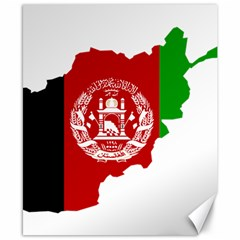 Flag Map Of Afghanistan Canvas 8  x 10