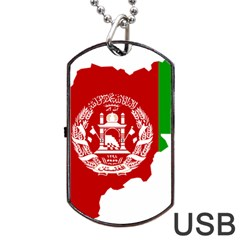 Flag Map Of Afghanistan Dog Tag USB Flash (Two Sides)