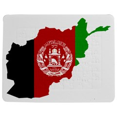 Flag Map Of Afghanistan Jigsaw Puzzle Photo Stand (rectangular)