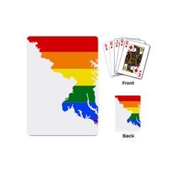 Lgbt Flag Map Of Maryland  Playing Cards (Mini)