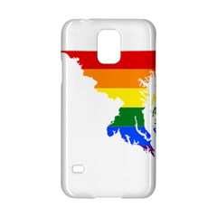 Lgbt Flag Map Of Maryland  Samsung Galaxy S5 Hardshell Case