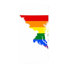 Lgbt Flag Map Of Maryland  Samsung Galaxy Alpha Hardshell Back Case