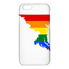 Lgbt Flag Map Of Maryland  iPhone 6/6S TPU Case