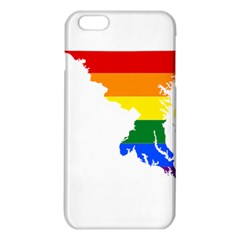 Lgbt Flag Map Of Maryland  iPhone 6 Plus/6S Plus TPU Case
