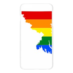 Lgbt Flag Map Of Maryland  Apple Seamless iPhone 6 Plus/6S Plus Case (Transparent)