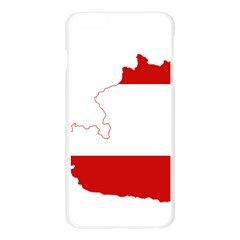 Flag Map Of Austria Apple Seamless iPhone 6 Plus/6S Plus Case (Transparent)