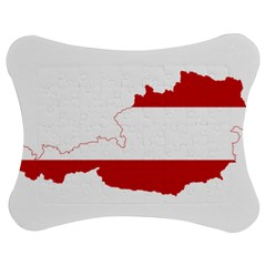 Flag Map Of Austria Jigsaw Puzzle Photo Stand (bow)